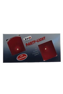 Party light Red 2 stuks