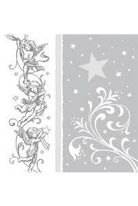 Servetten 'Christmas Angel Silver'