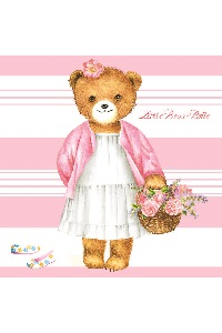 Servetten 'Little Bear Belle'