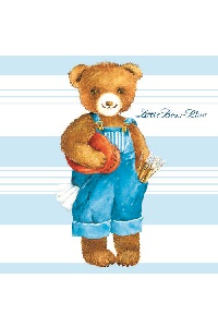 Servetten 'Little Bear Blue'