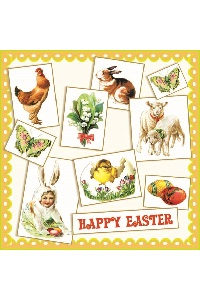 Servetten 'Happy Easter'